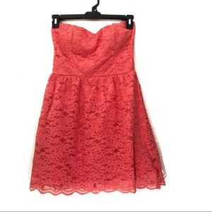 Cute by Daisy Strapless Lace Mini Dress